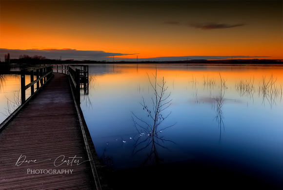 Dave Carter Photography. Sunset Over Chasewater